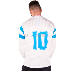 1990-1991 Marseille home long sleeve replica retro football shirt