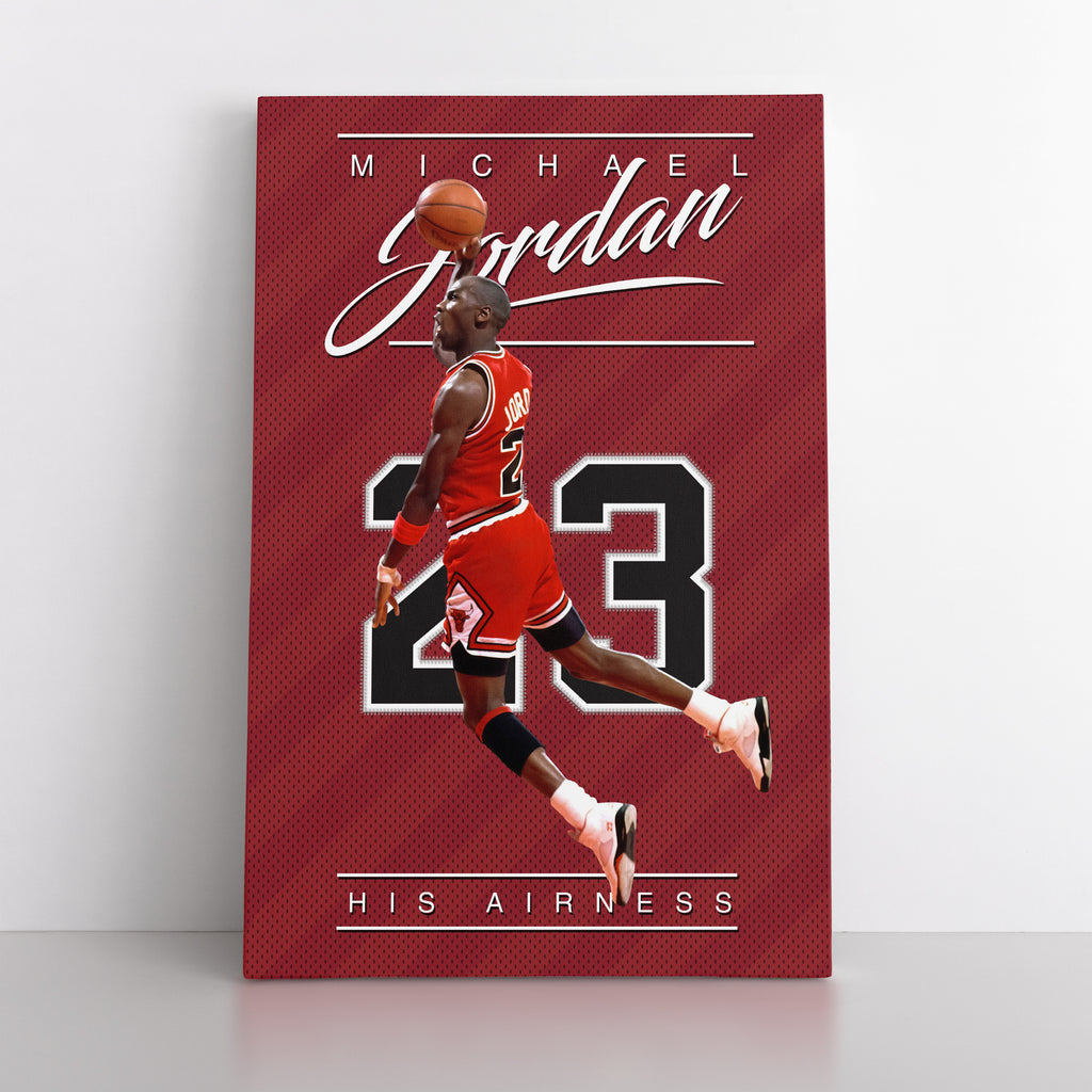 "Michael Jordan ""His Airness"" - Canvas"