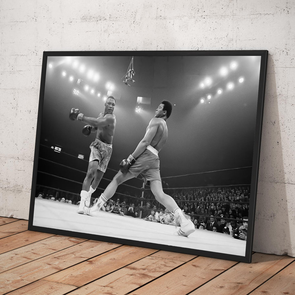 "Muhammad Ali  vs Joe Frazier  (1971) ""The Fight of the Century"" at Madison Square Garden in New York City - Framed poster"