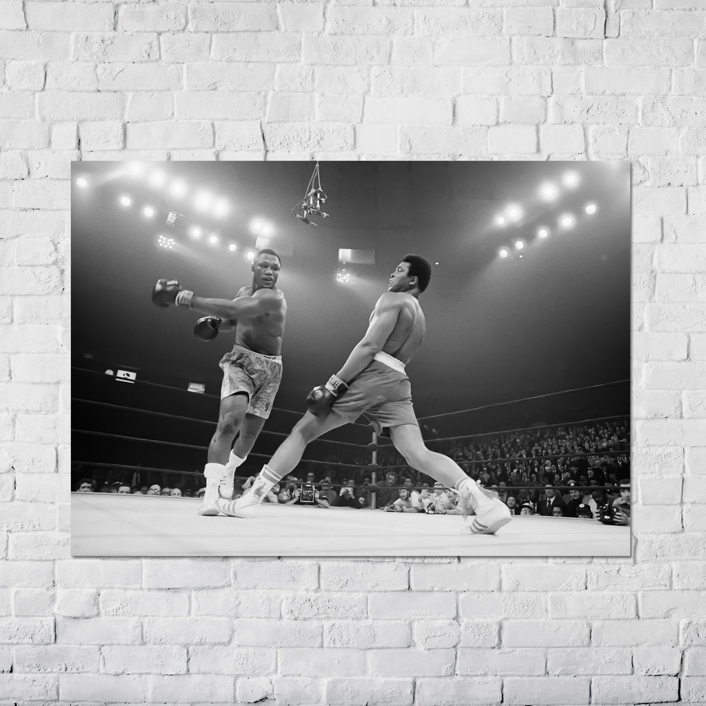 "Joe Frazier vs Muhammad Ali (1971) ""The Fight of the Century"" at Madison Square Garden in New York City - Poster"