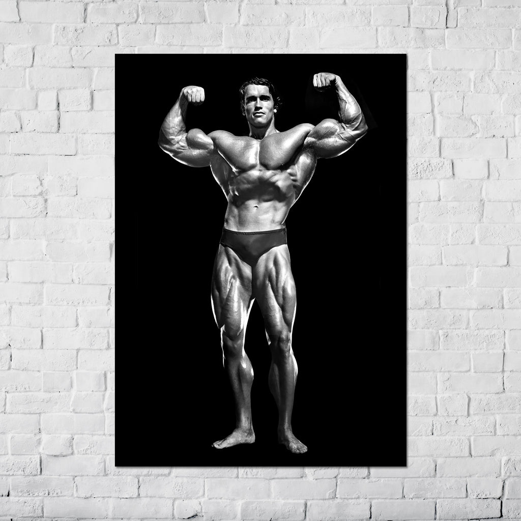 Arnold Schwarzenegger Double Bicep Pose Classic - Poster