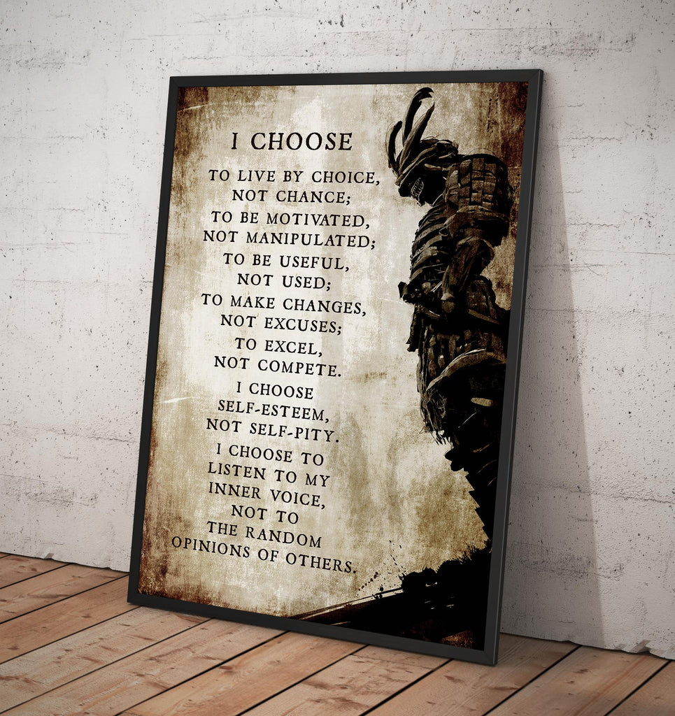 I Choose to live by Choice... Inspirational - Framed poster