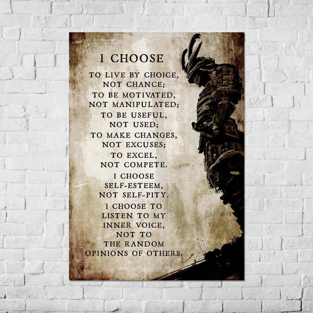 I Choose to Live by Choice - Poster