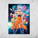 Dragon Ball Son Goku's powerful forms - Poster