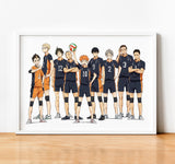 Haikyu!! Team Karasuno, Manga series. GP - Framed poster