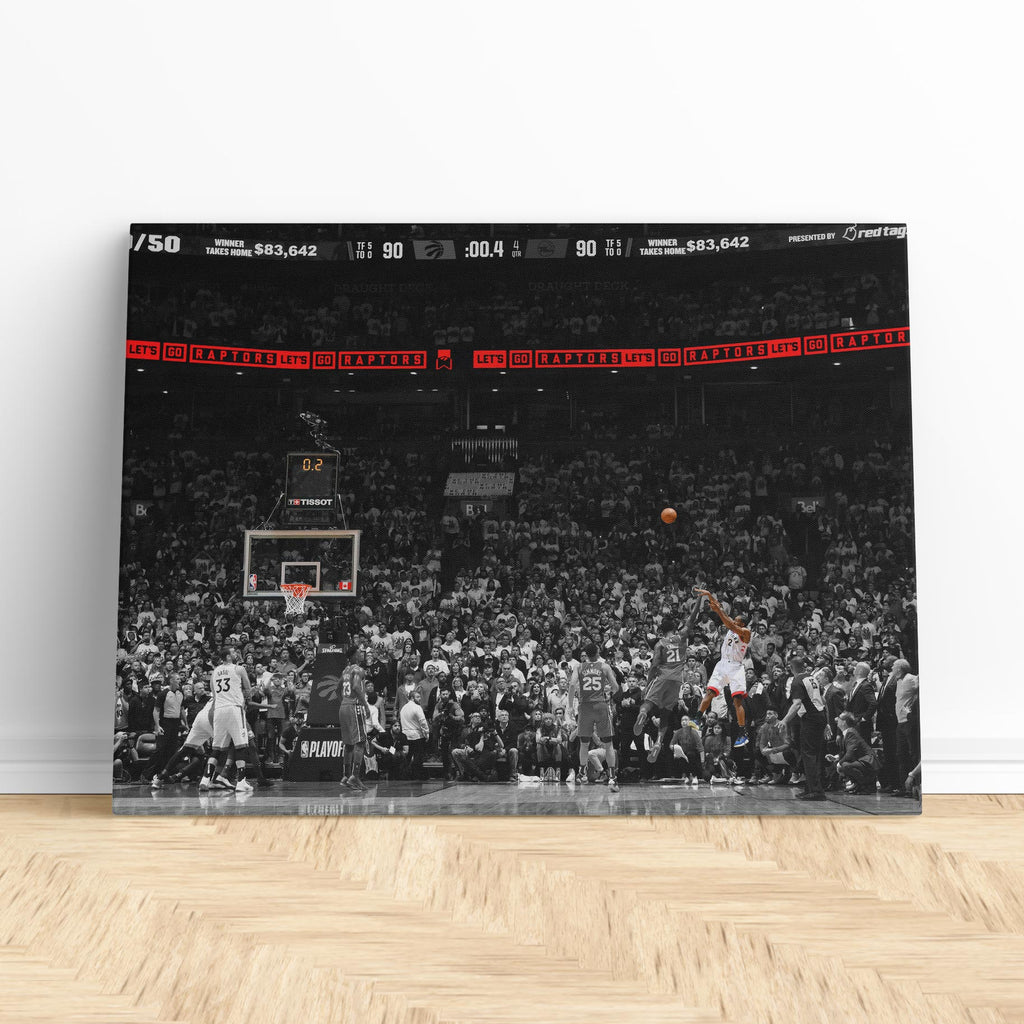 Kawhi Leonard's incredible buzzer-beater shot. 13/05/19 Game 7 Raptors vs. 76ers - Canvas