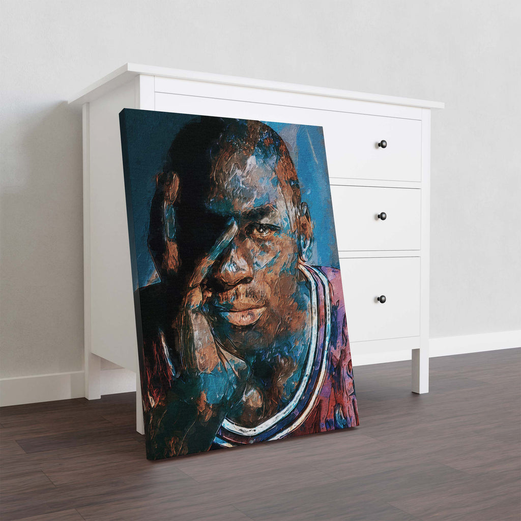 Michael Jordan stylized art - Canvas