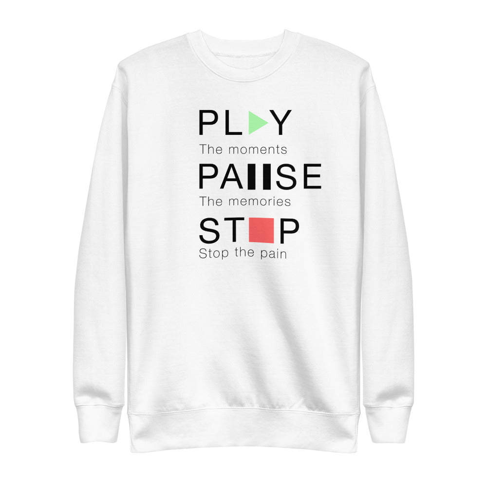 Play Pause Stop | Unisex Fleece Pullover