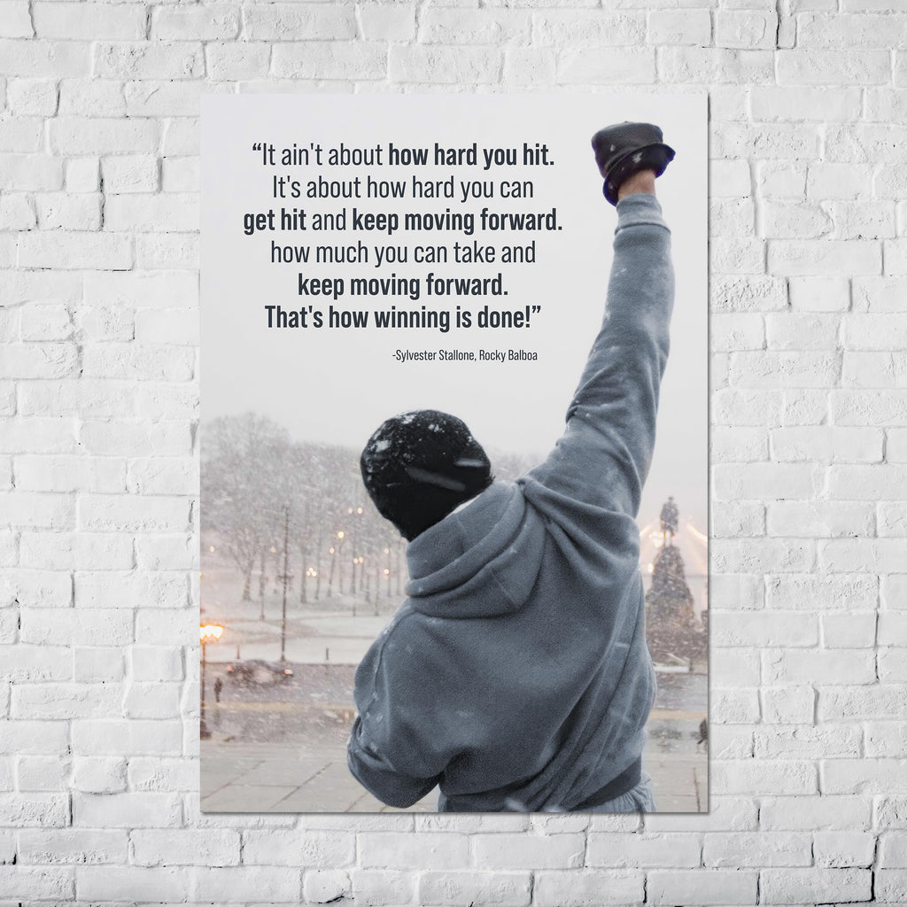 Rocky Balboa Motivational Poster, Quotes. - Poster