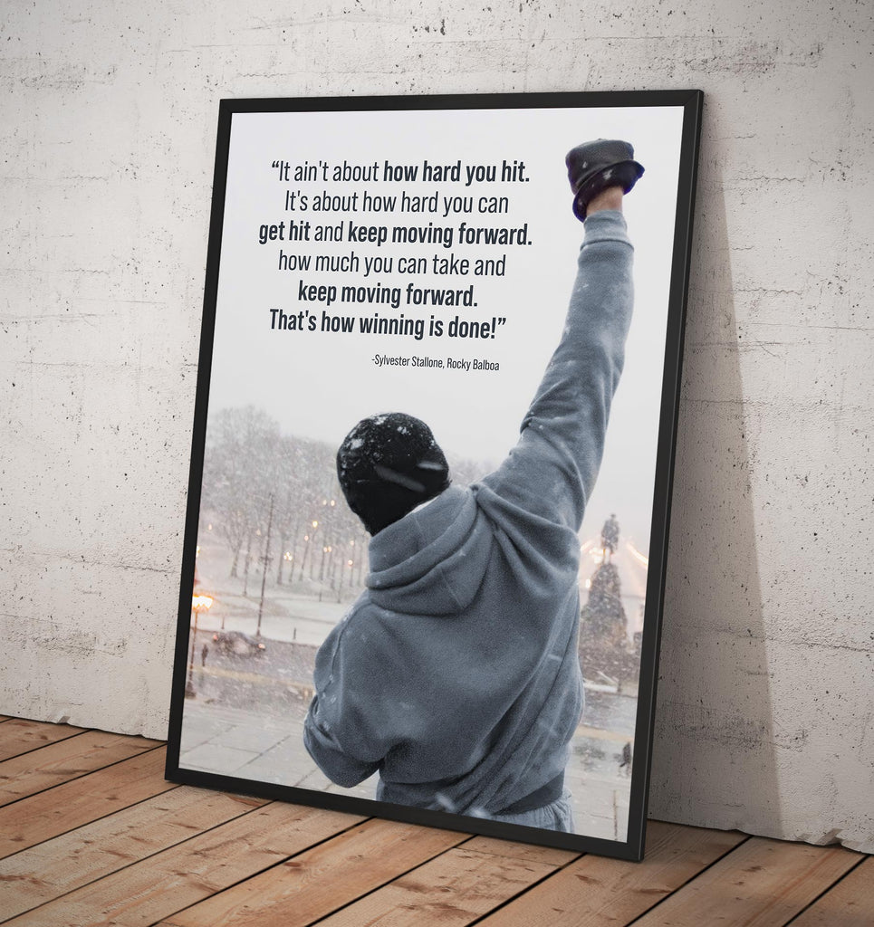 Rocky Balboa Motivational - Framed poster