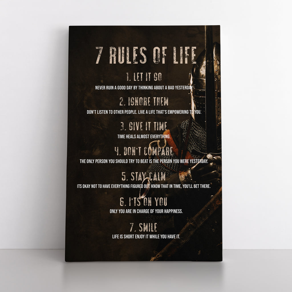 7 Rules of Life - Canvas