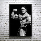 Arnold Schwarzenegger Single Bicep Pose - Framed poster