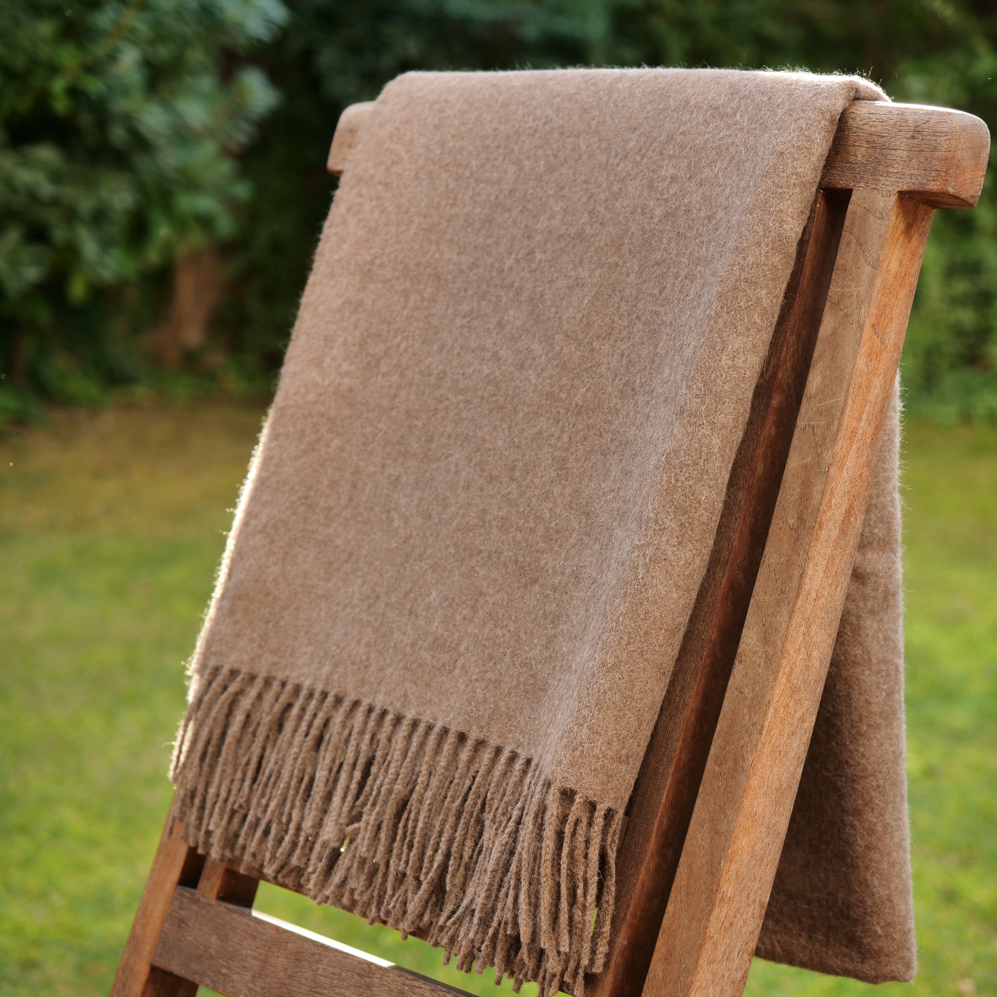 Baby Alpaca Wool Throw for Sofa - Uros