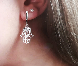Hand of Evil Dangle Earrings