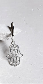 Load image into Gallery viewer, Hand of Evil Dangle Earrings