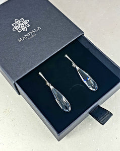 Swarovski Crystal Rain Drop Earrings
