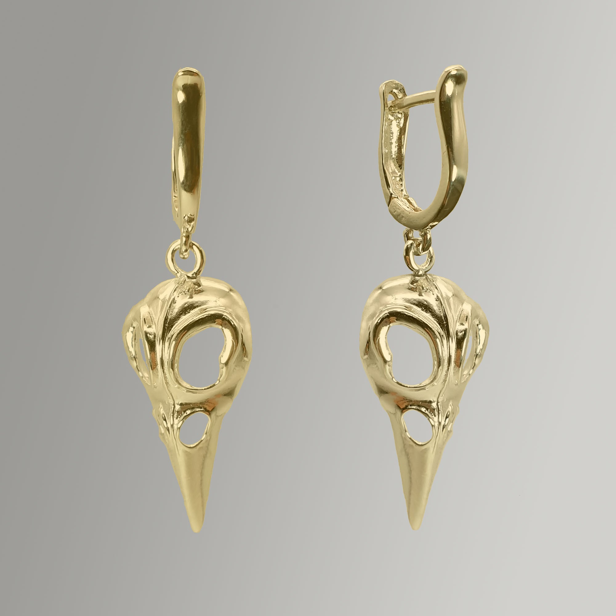 Bird's Skull Dangle Earring