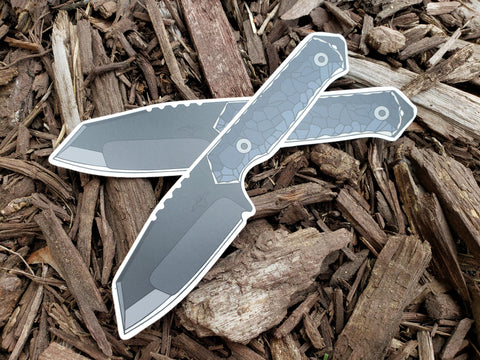 Tactical Pterodactyl Vinyl Knife Decal (Raptor)