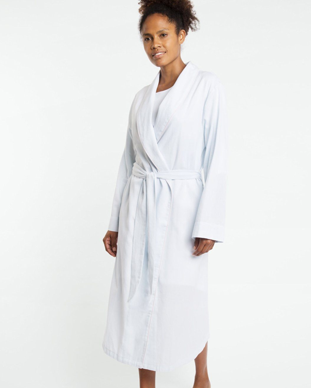 Blue Chambray Dressing Gown Sale Yawn