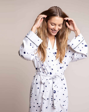 Cosy Cotton Robe Curl Up Dressing Gowns Yawn
