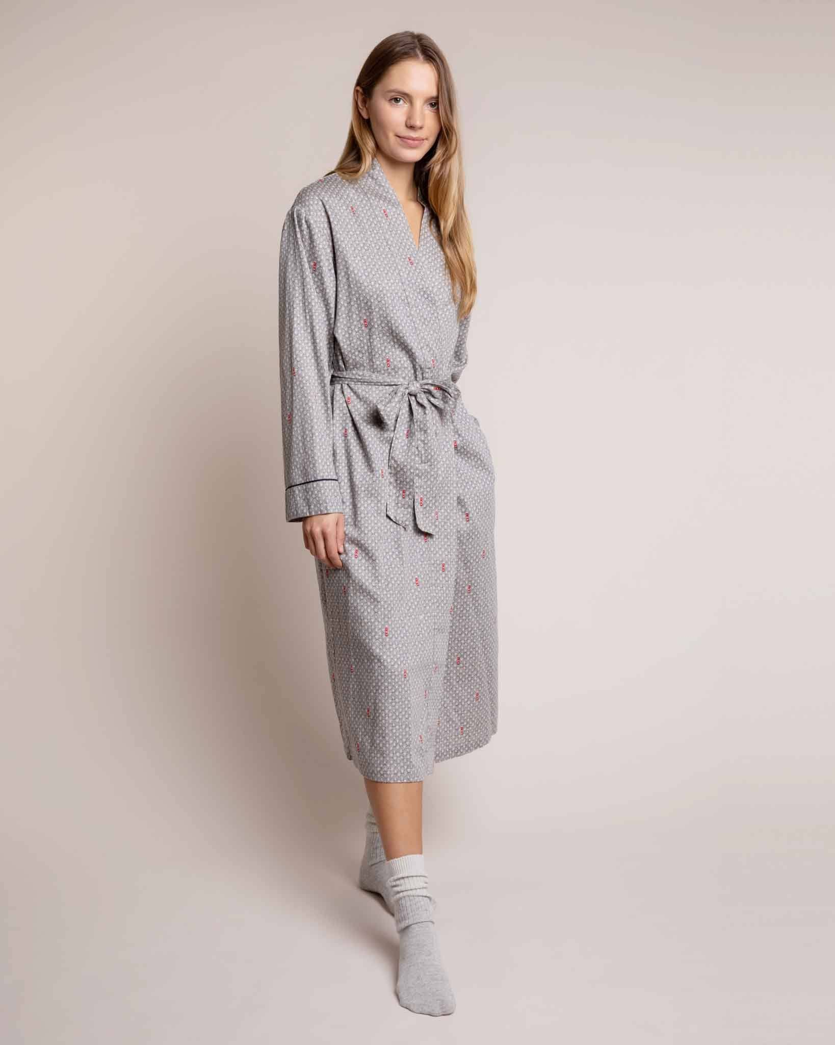 Cosy Cotton Robe Port in a Storm Dressing Gowns Yawn