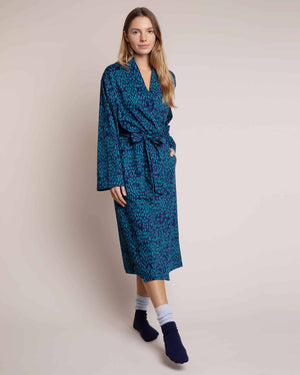 Cosy Cotton Robe Treetops and Tales Dressing Gowns Yawn