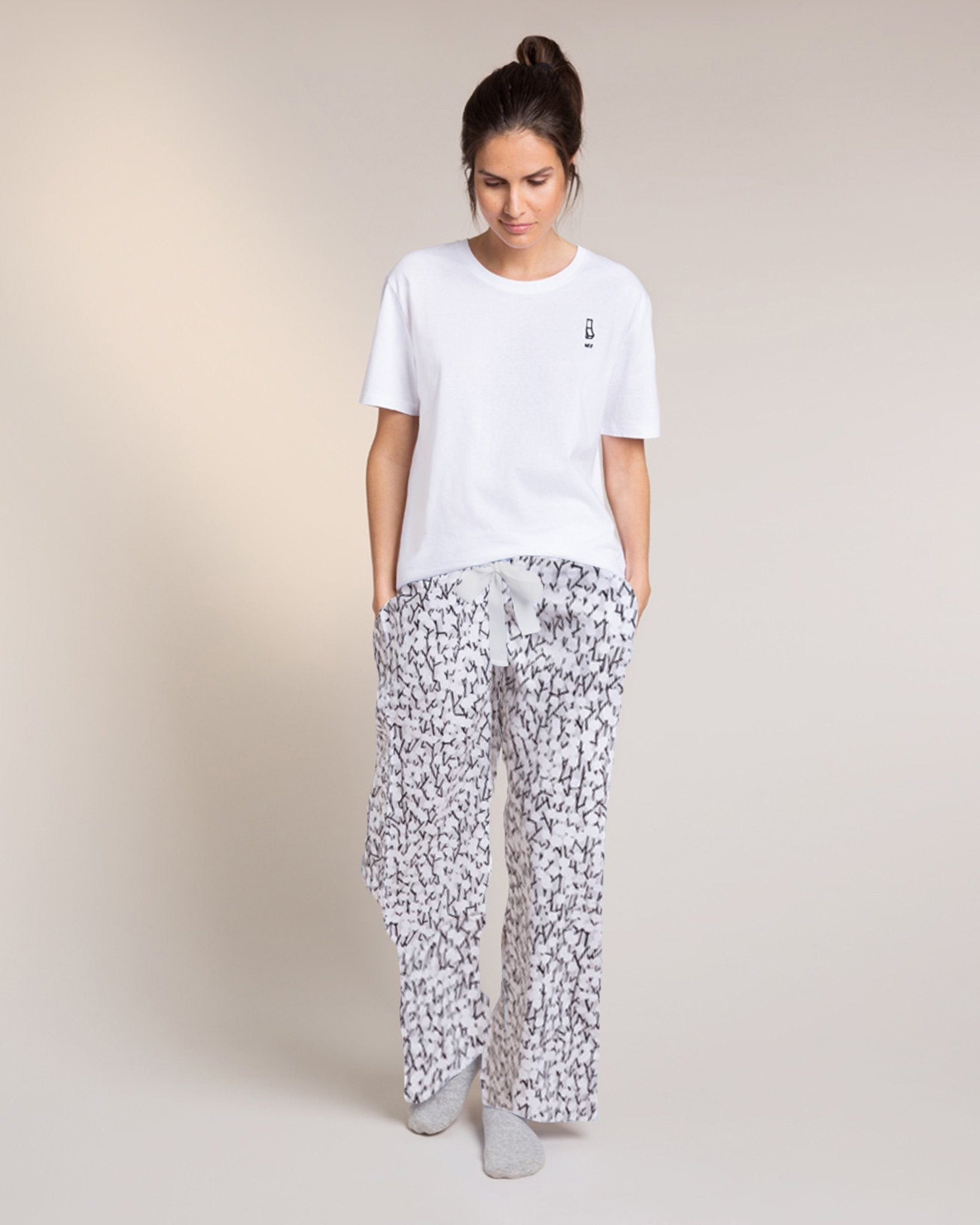 Grey Hideaway Organic Pyjama Bottoms PJ Bottoms Yawn