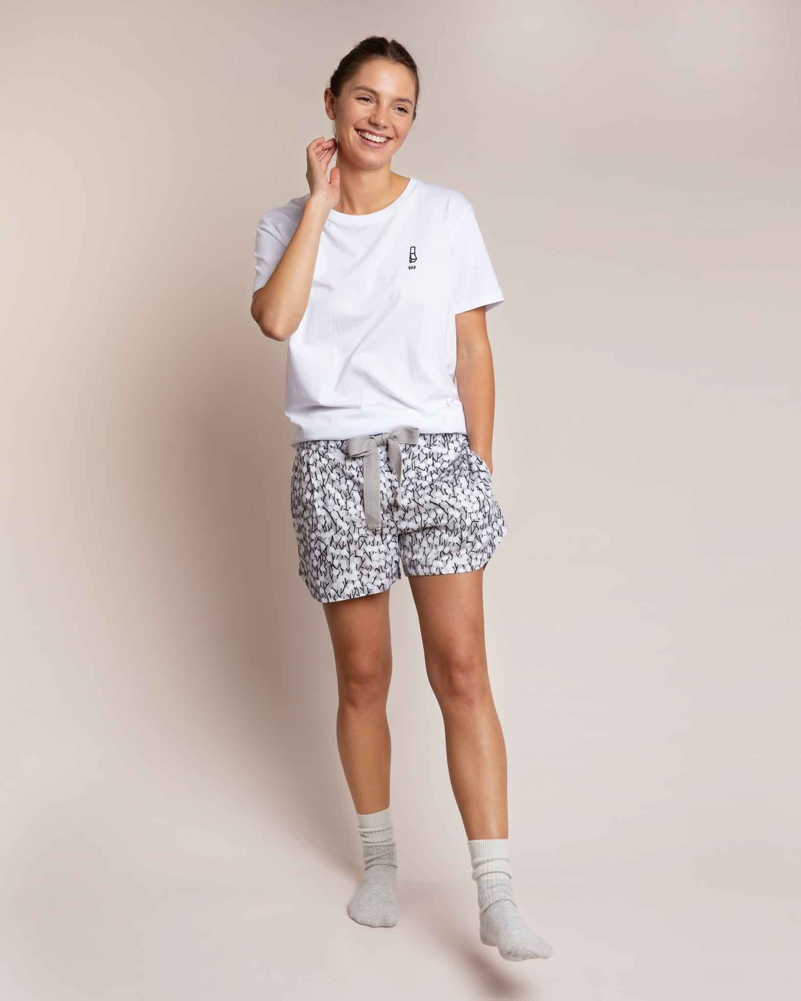 Grey Hideaway Organic Sleep Shorts Sleep Shorts Yawn