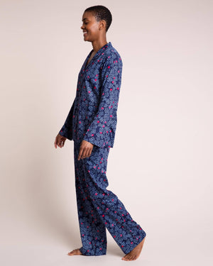 Navy Tropical Night Pyjama Set PJ Sets Yawn