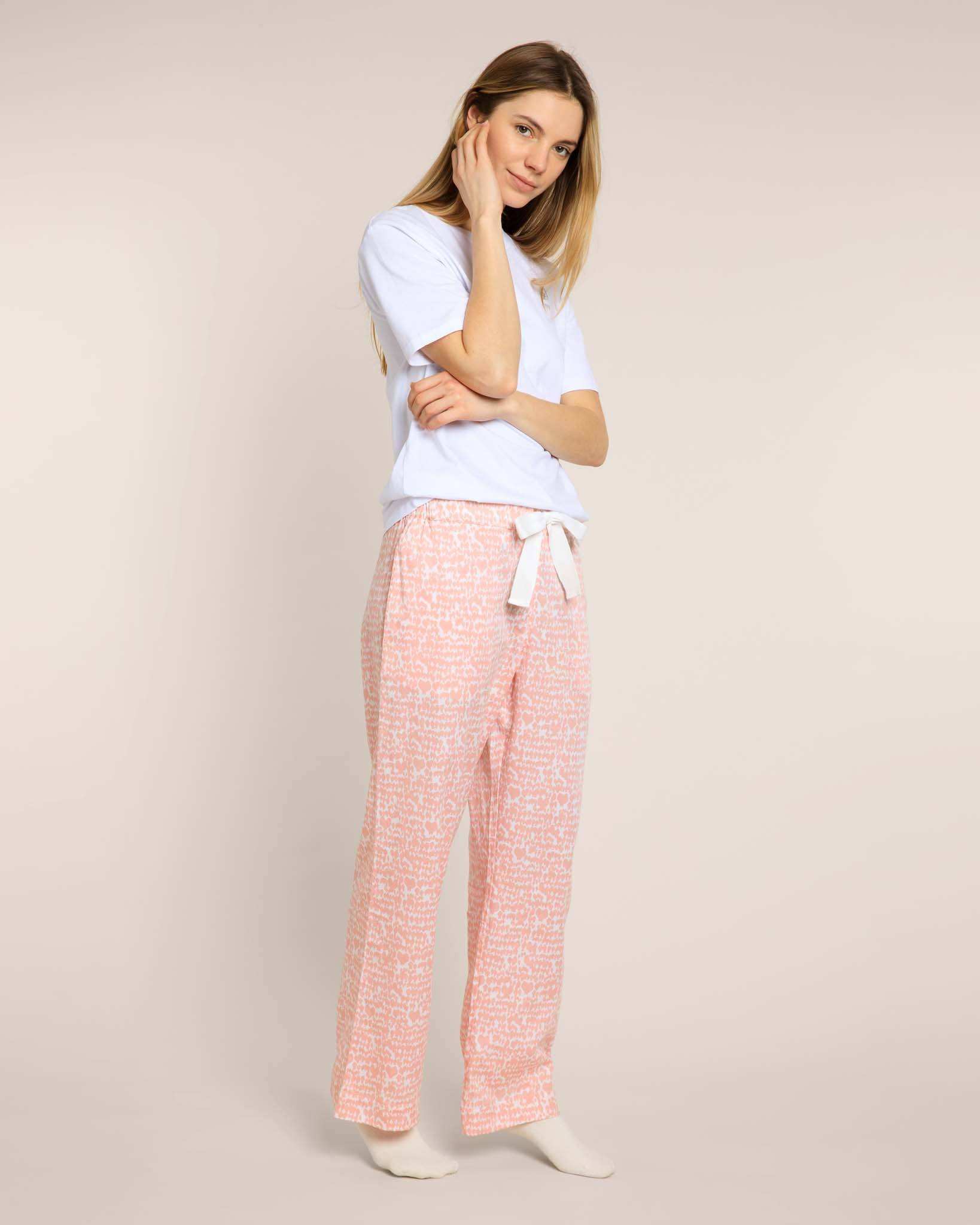 Pink Lovebirds Organic Pyjama Bottoms PJ Bottoms Yawn