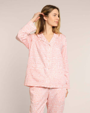 Pink Lovebirds Organic Pyjama Set PJ Sets Yawn