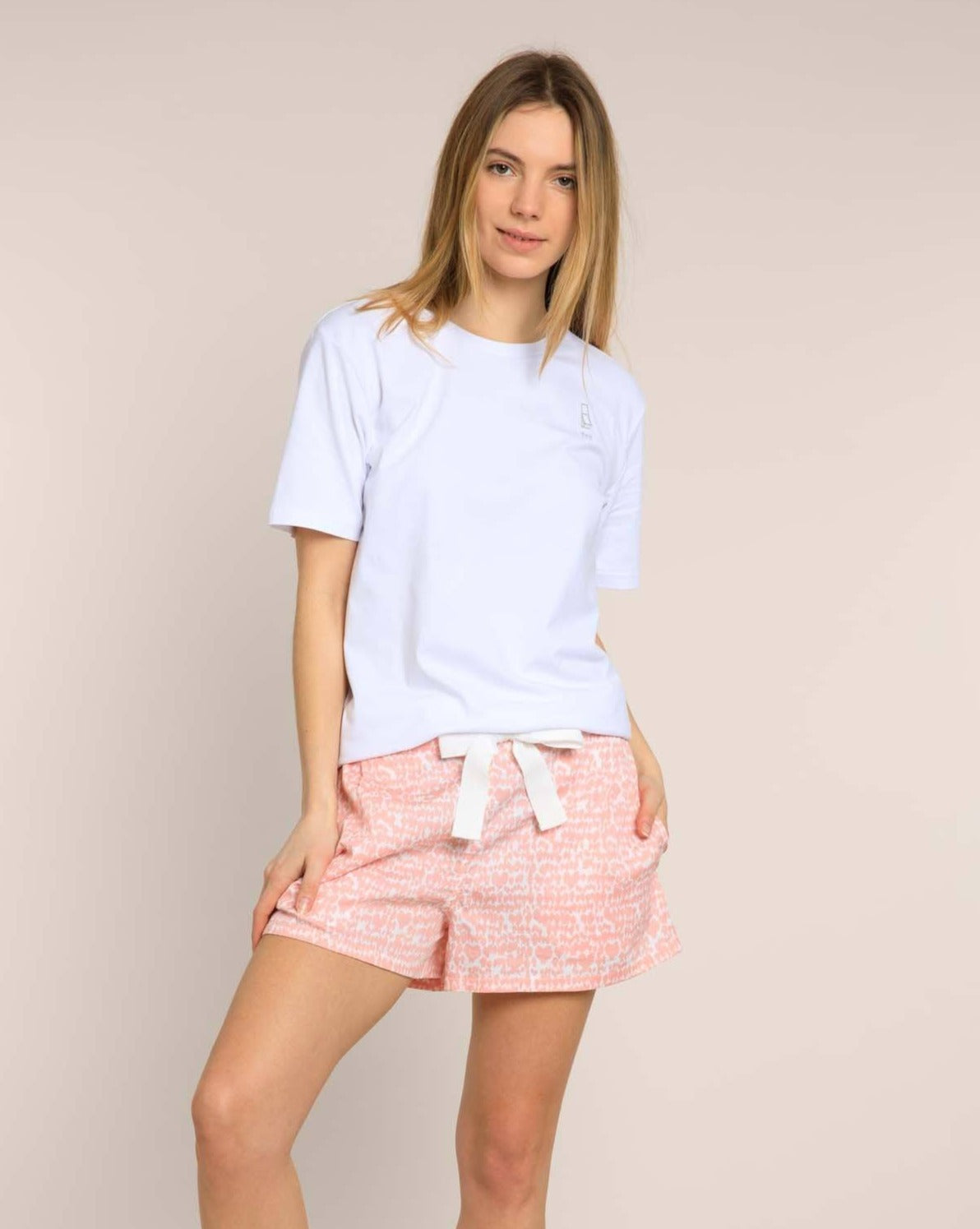 Pink Lovebirds Organic Pyjama Shorts Sleep Shorts Yawn