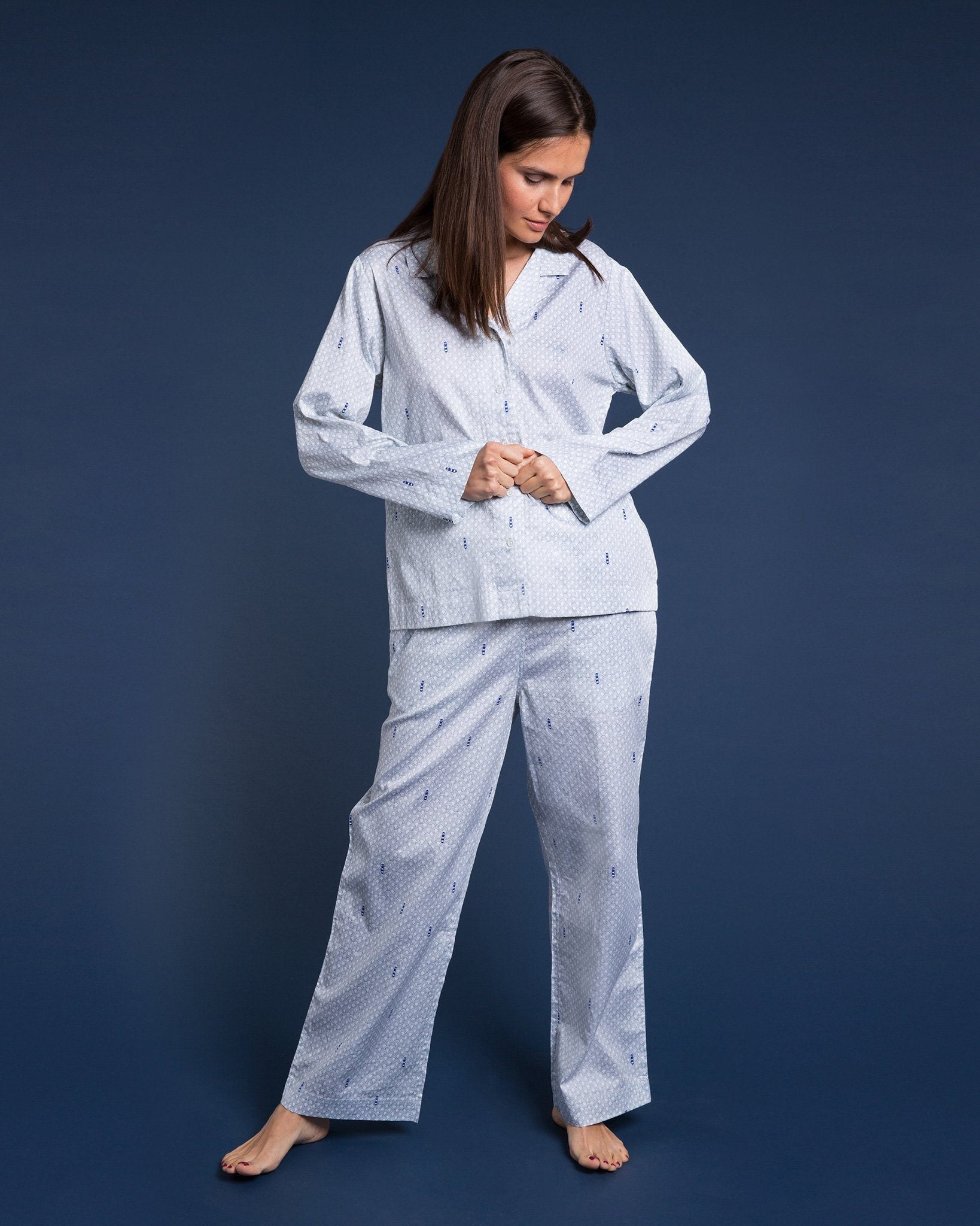 Port in a Storm Pyjama Set - Blue & Green Edition PJ Sets Yawn