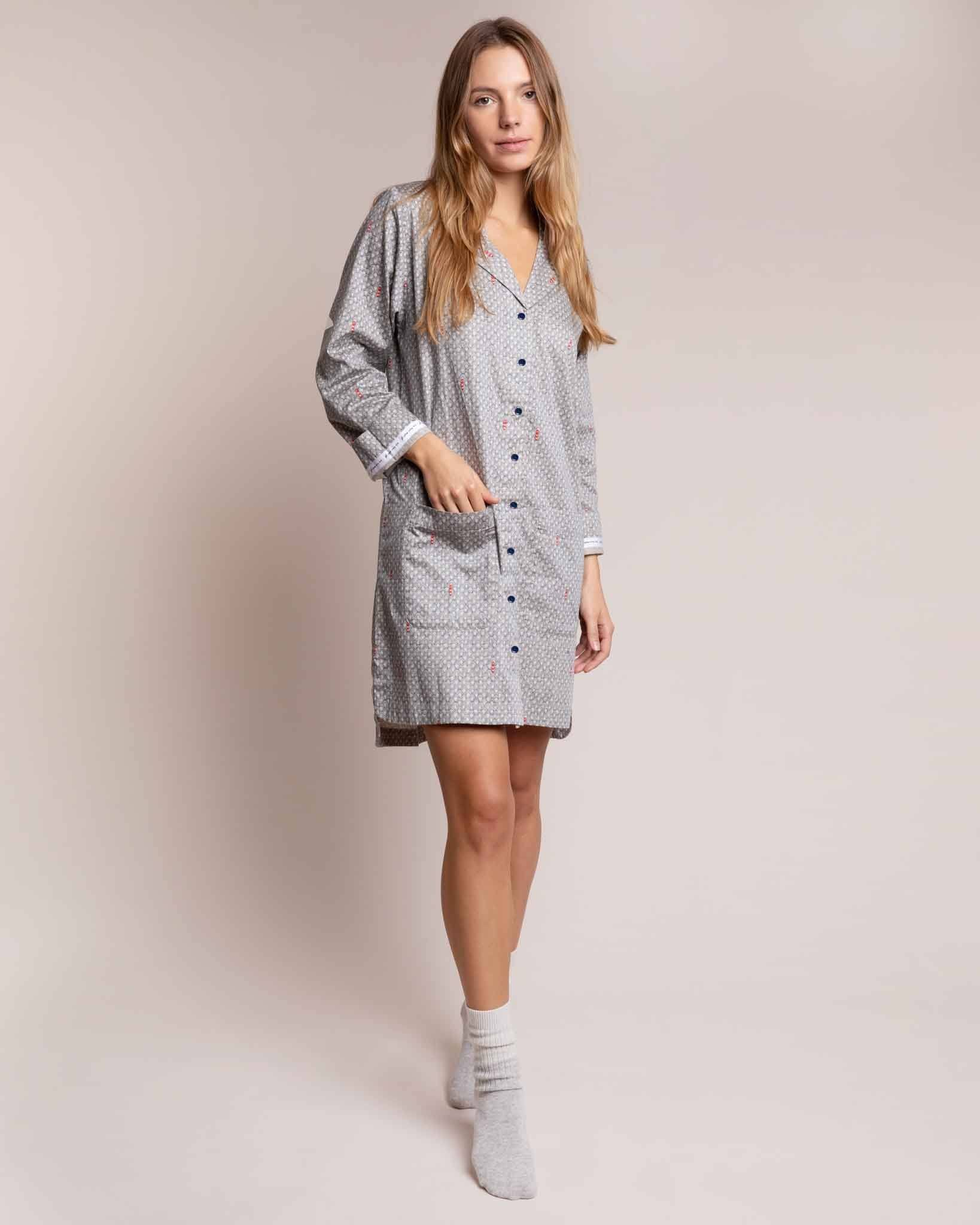 Port in a Storm Twill Nightshirt Nightshirts Yawn