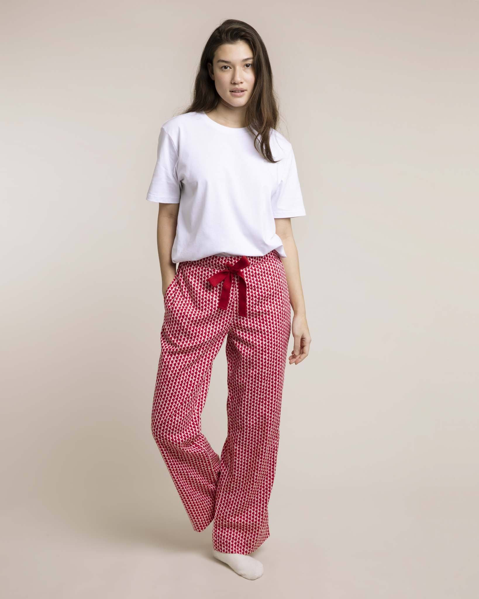 Red Hounds of Love Organic Pyjama Bottoms PJ Bottoms Yawn