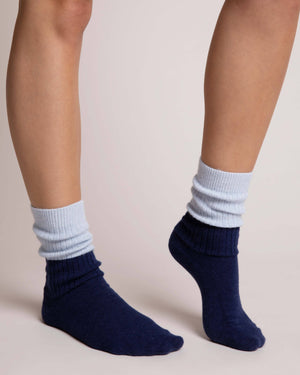 Sleep Socks | Blue Sleep Socks Yawn