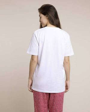 White Organic Cotton T-shirt Tops Yawn