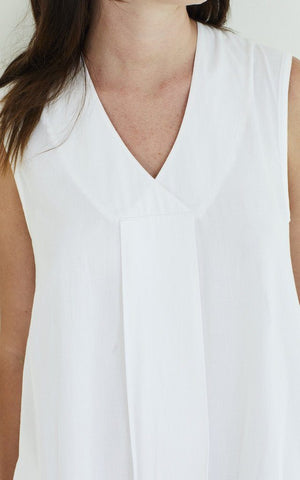 White Pleat Front Cami Sale Yawn