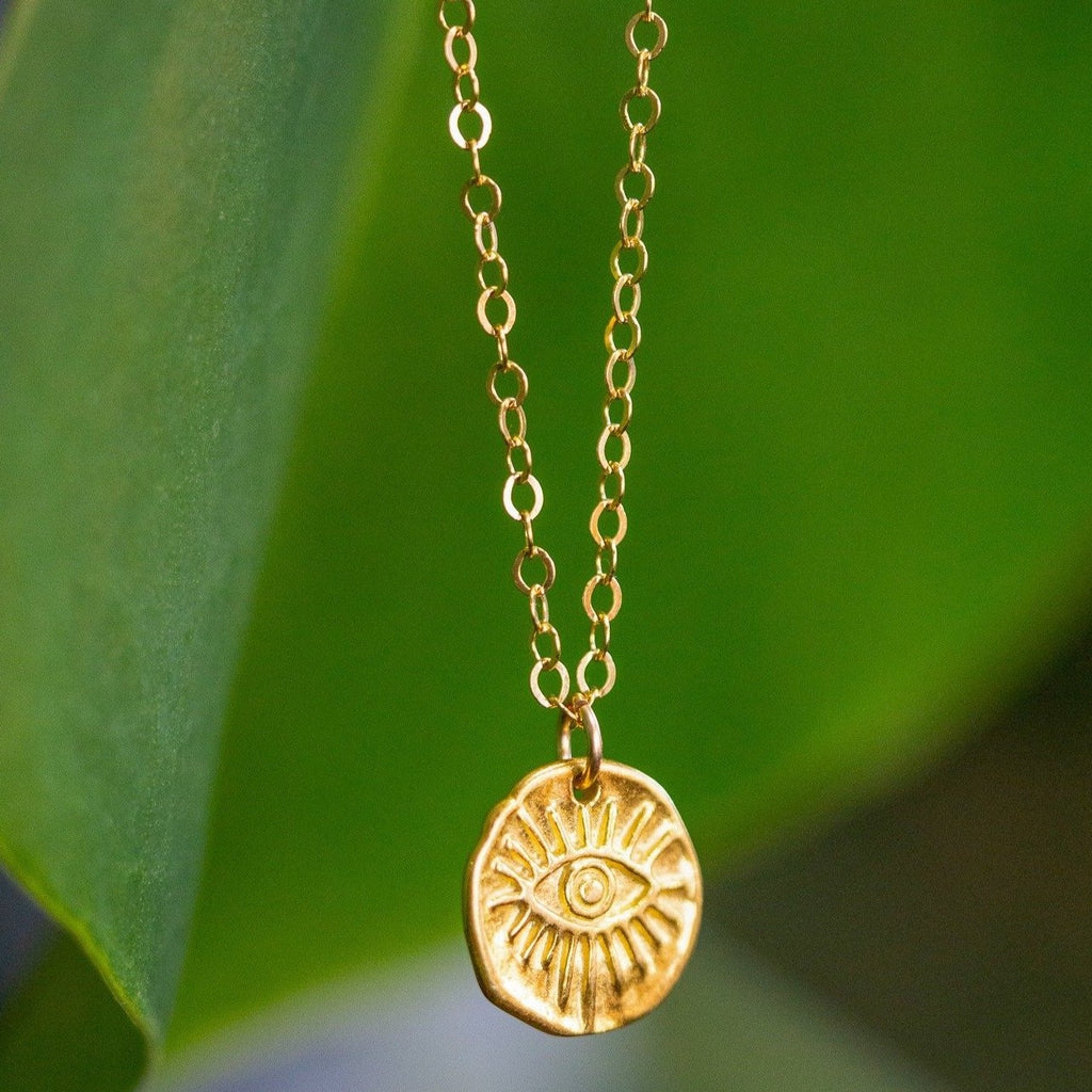 Golden Eye Necklace