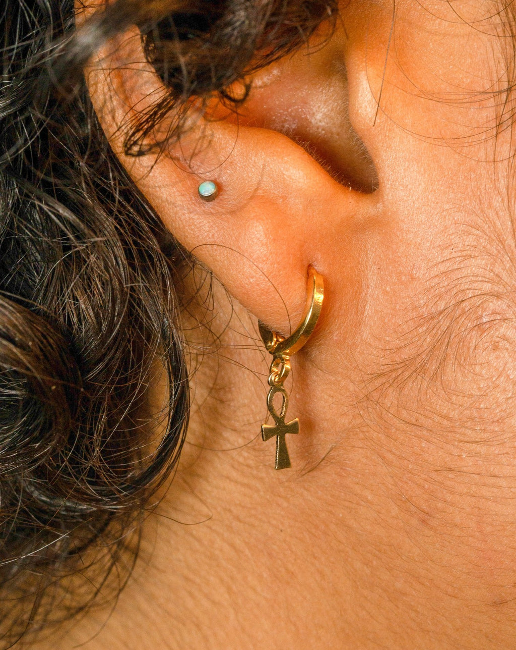 Mini Ankh Earrings