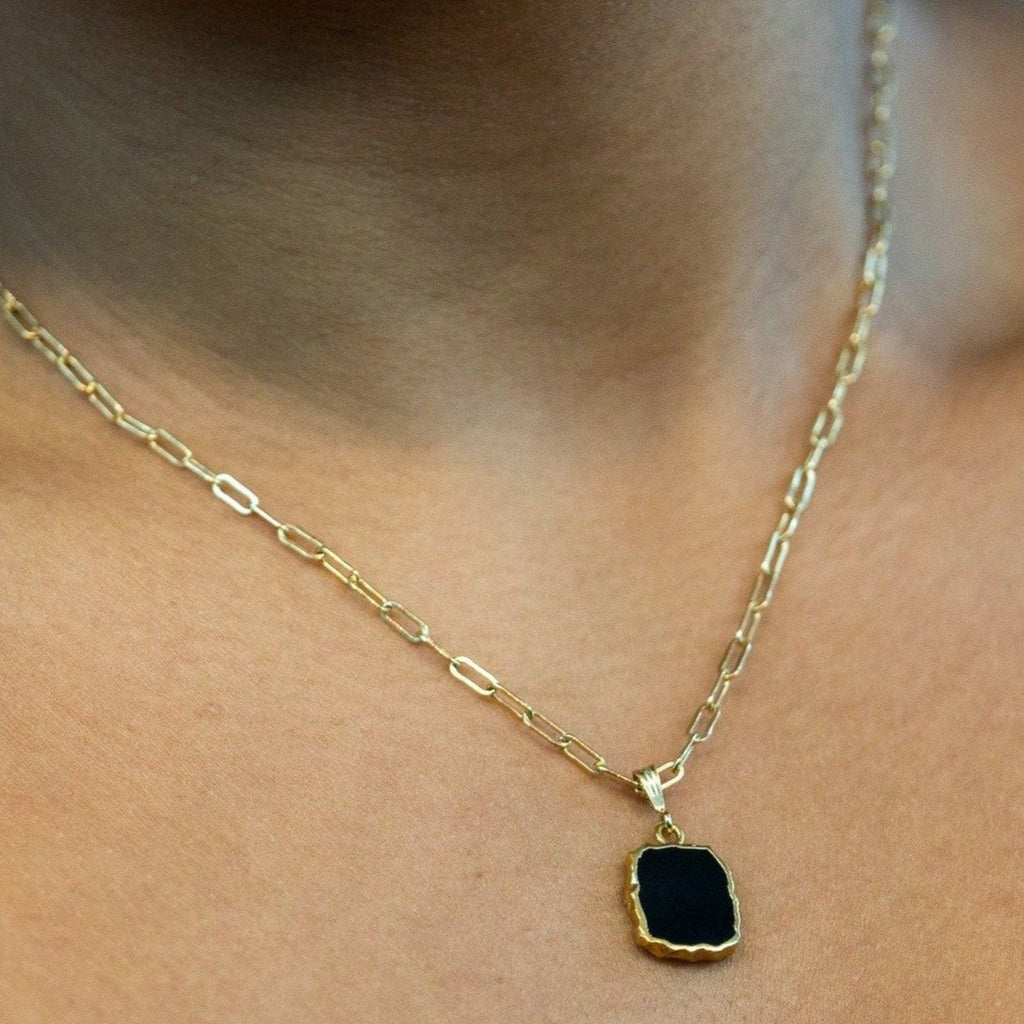 Onyx Organic Cut Necklace
