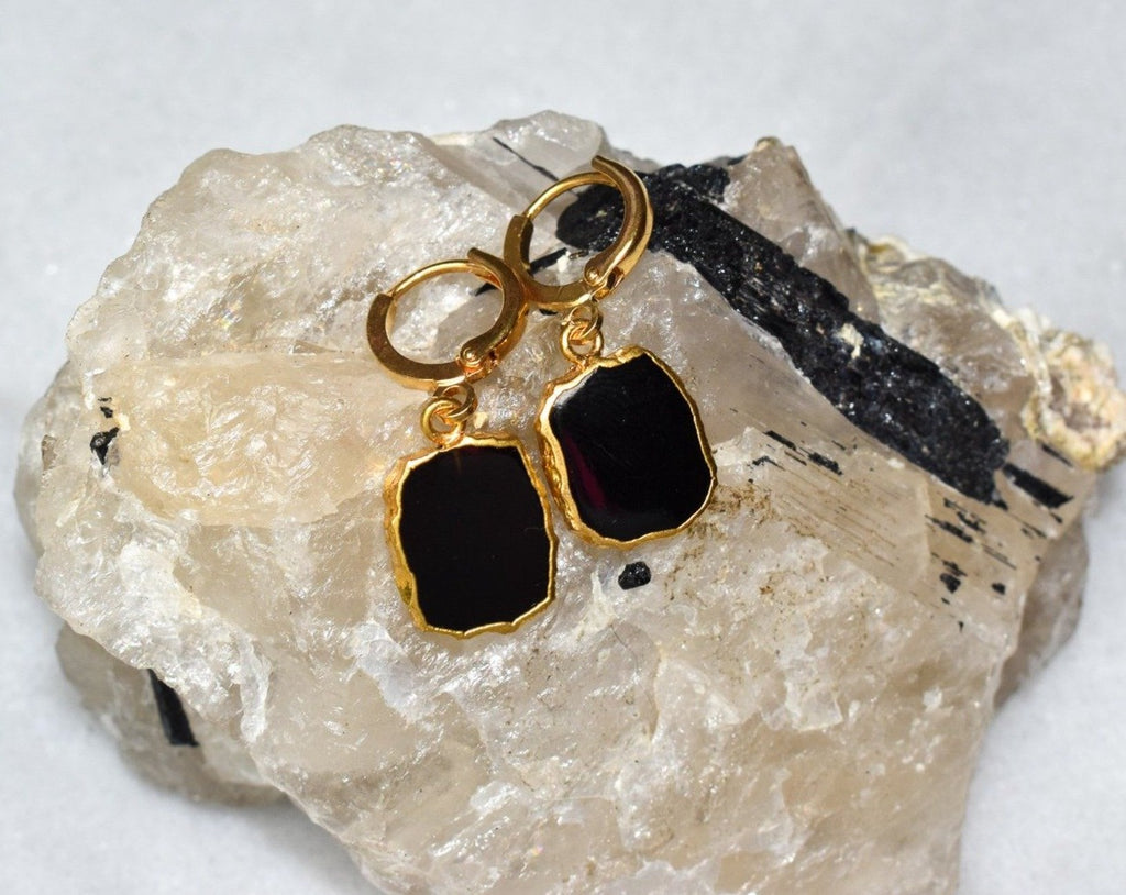 Onyx Organic Earrings