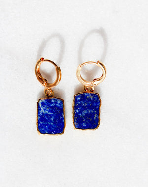 Lapis Lazuli Organic Earrings