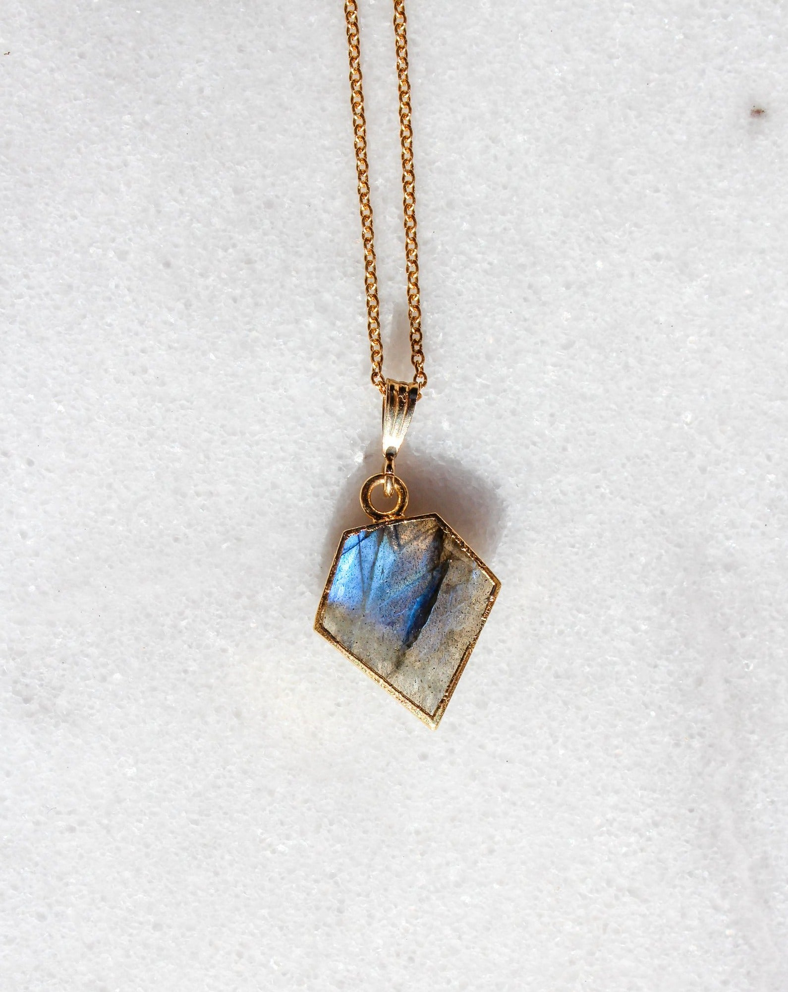 Labradorite Shield Necklace