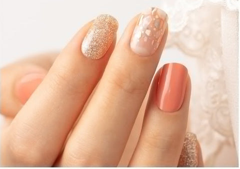 Gel Nail Polish Strip Stickers  - Soft Coral Pearl