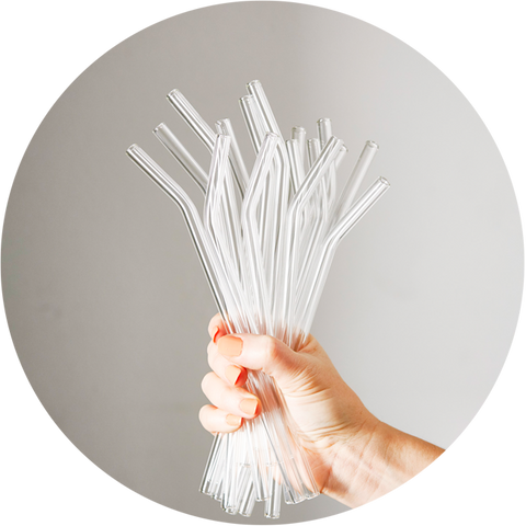 Best alternative to plastic and paper straws reusable glass drinking straws