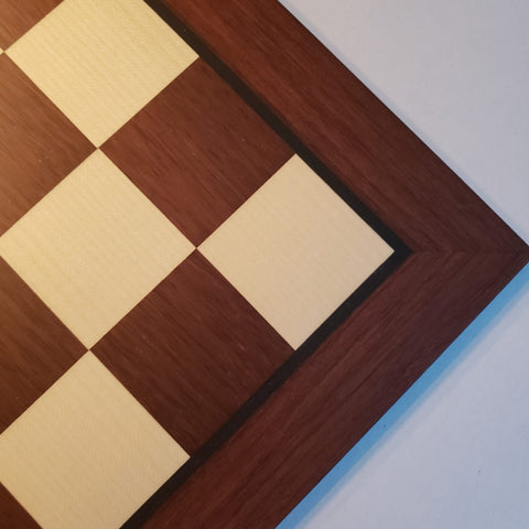 Dark Rosewood & Maple Chess Board