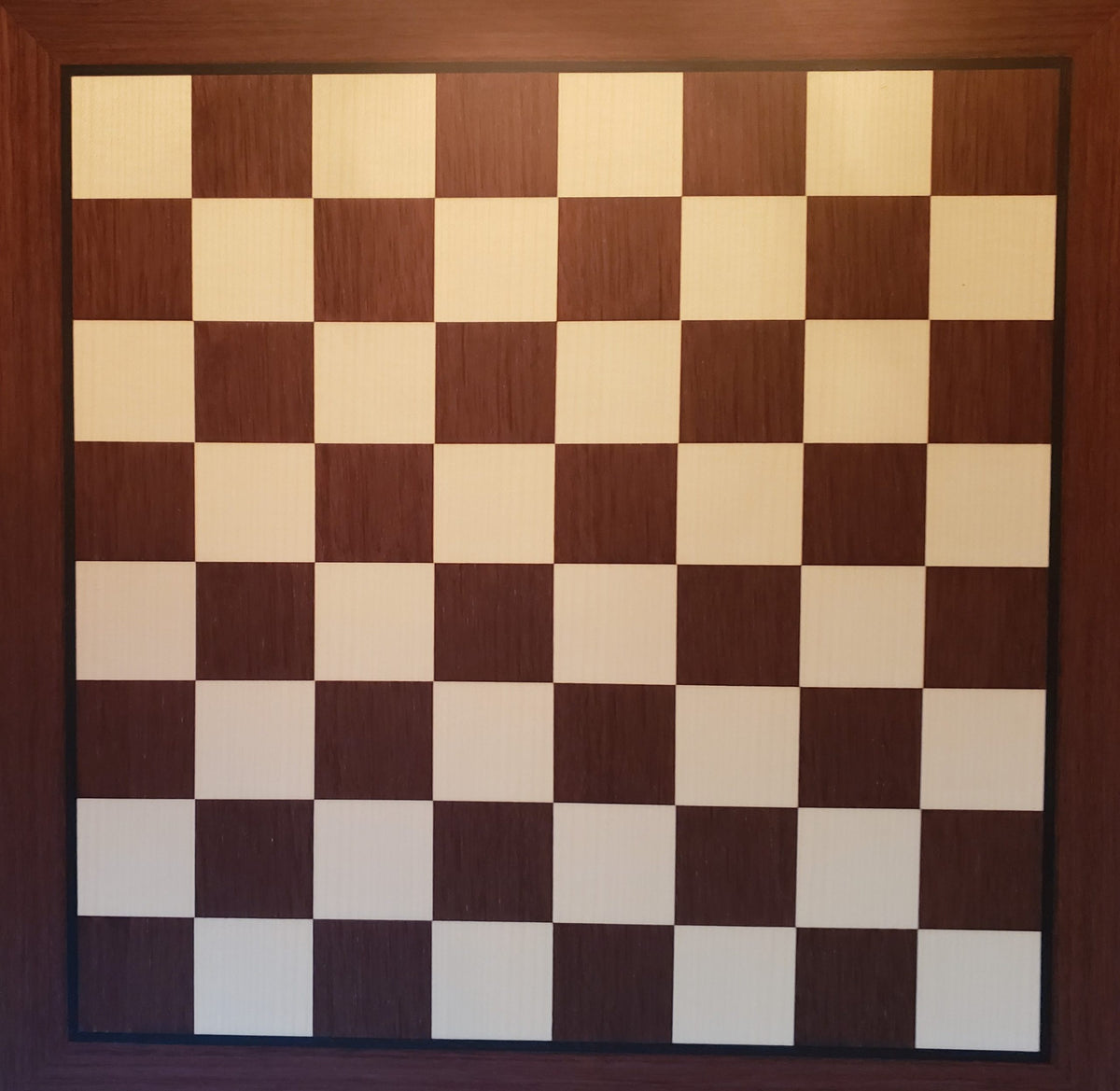 Dark Rosewood and Maple Chess Board