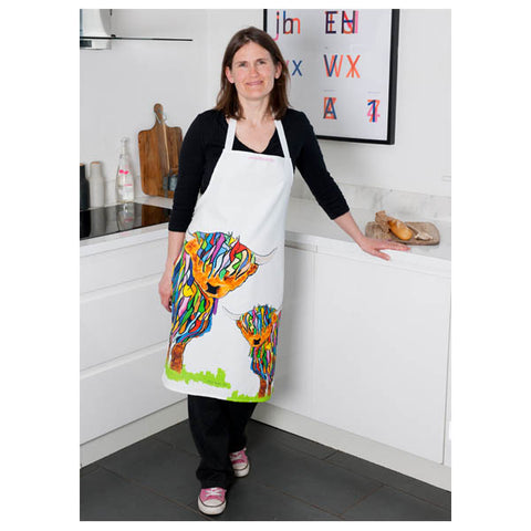 Apron Big Cow and baby with Chloe-600×600