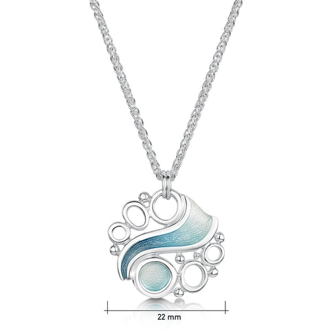 Arctic Stream Necklace by Sheila Fleet